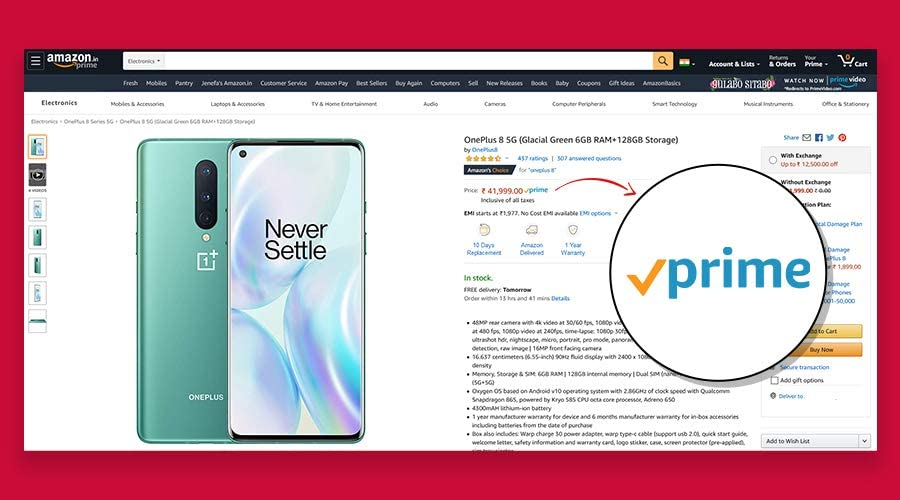 Prime badget visibility for Prime sellers