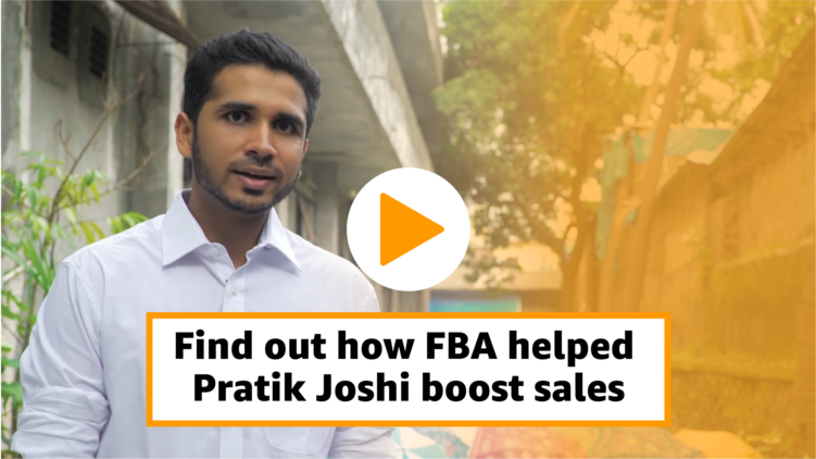 Pratik Joshi boosts sales using FBA