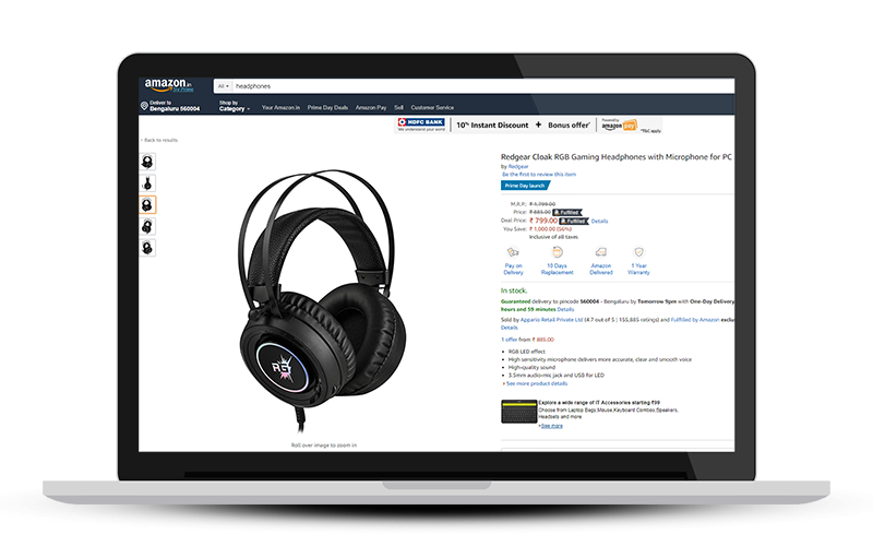 Sell Headphones online at Amazon.in