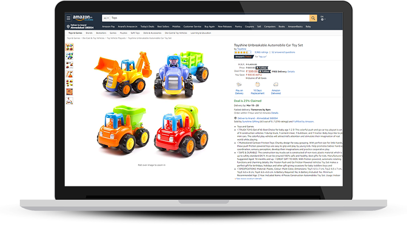 Sell Toys online on Amazon.in
