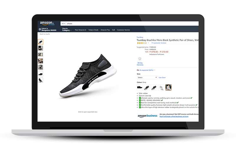 Sell shoes on Amazon India