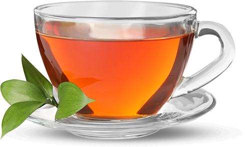 tea cup and leaves for selling tea on Amazon