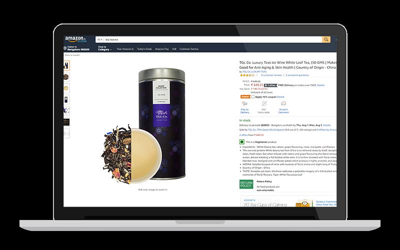 tea product on amazon when you sell tea online on amazon