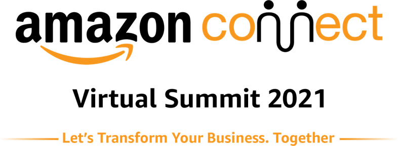 Friendly Amazon Selling Partner Summit employee helping a man and woman sitting in front of her
