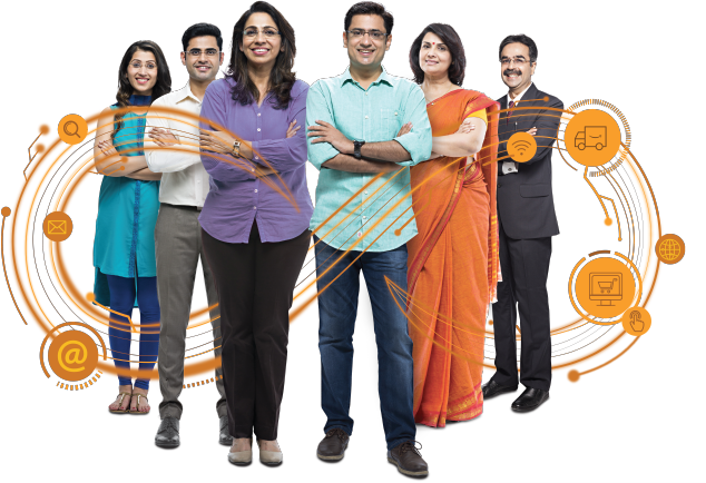 Amazon Smbhav event poster - Photo of people and possibilities with Smbhav