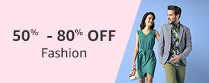 50% - 80% off Fashion