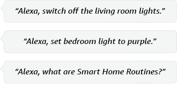 Alexa, switch on lights