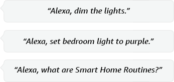 Alexa, switch on the light