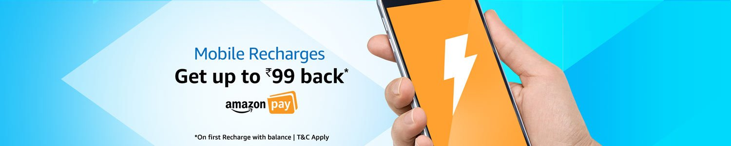 Up to Rs.99 back on first recharge