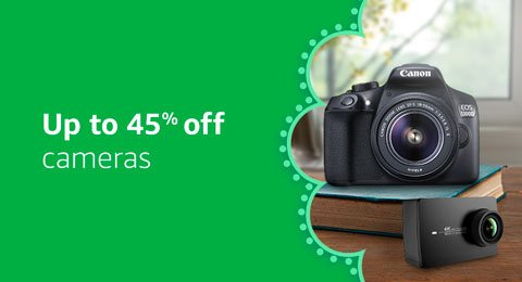Up to 45% off cameras