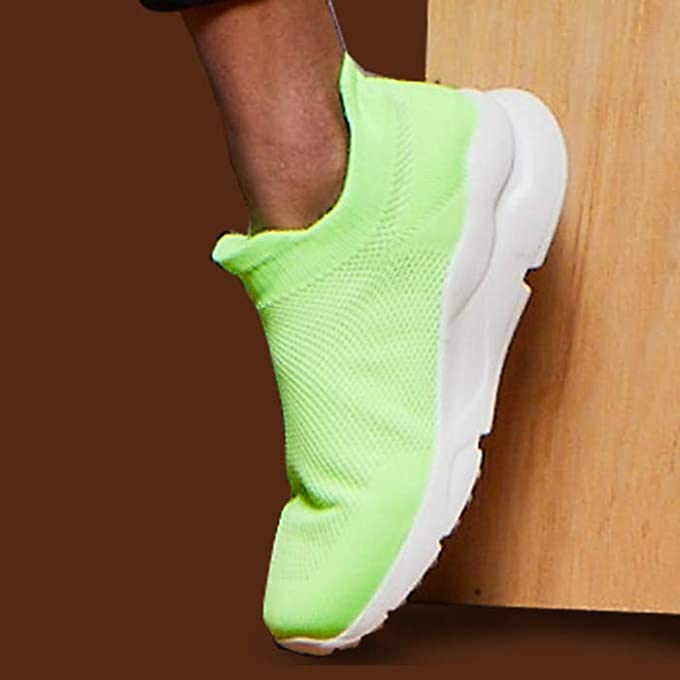 Neon accent sneakers
