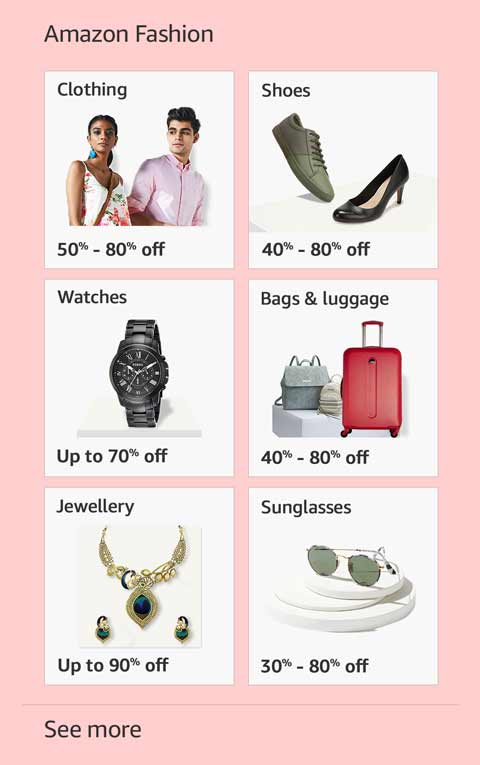 Top offers in Amazon Fashion