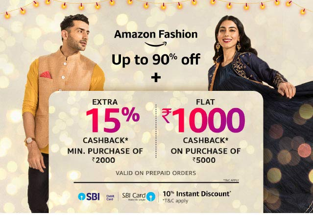 Up to 90 off + 15pc cashback