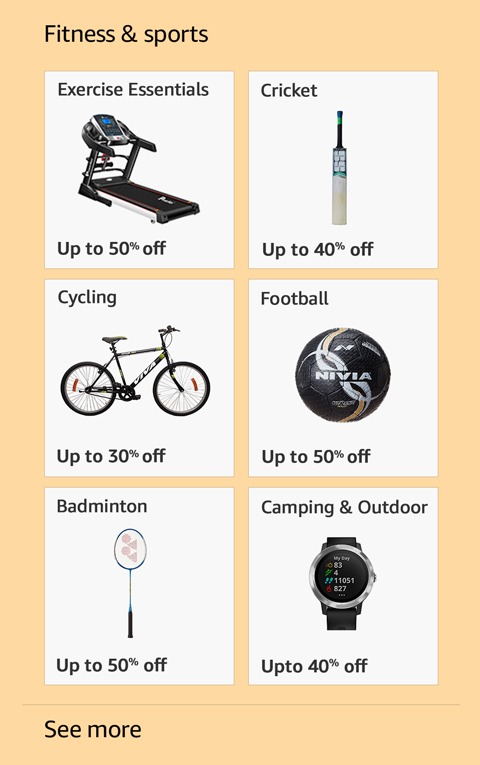 Offers on Fitness and sports