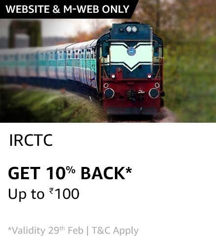 IRCTC Ticket booking using Amazon Pay