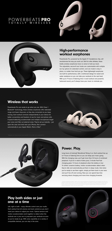 Beats Powerbeats Pro Totally Wireless Earphones Black Amazon In