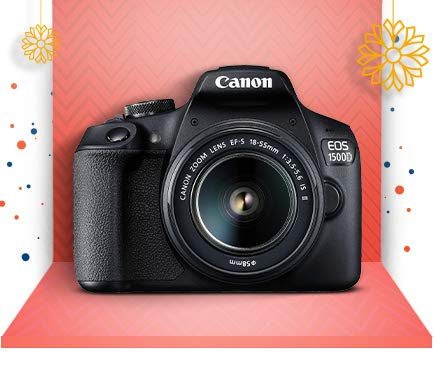 Canon EOS 1500D with EF S18-55 Lens
