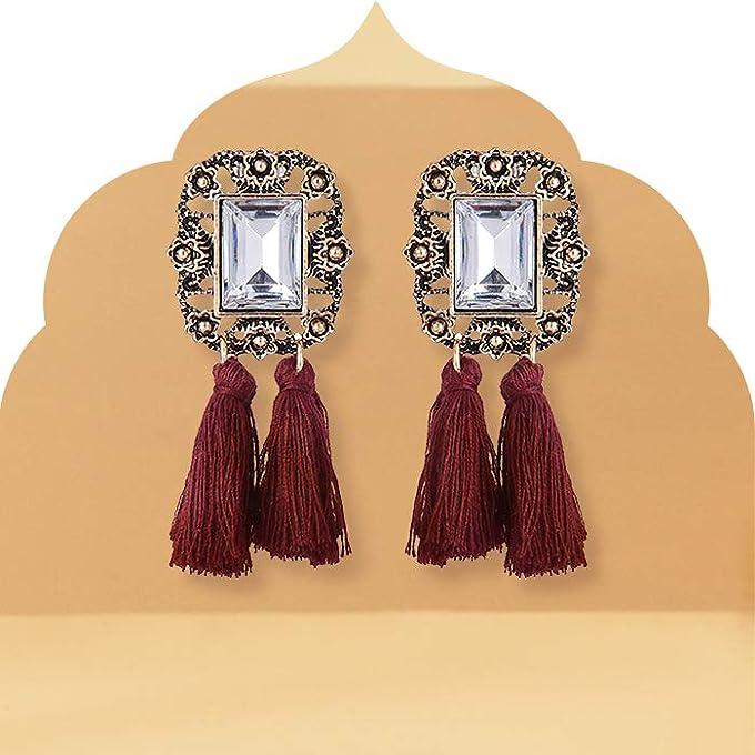 Long hanging earrings