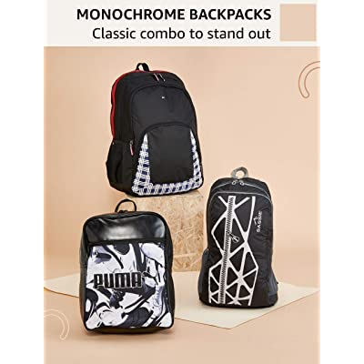 Monochrome backpacks