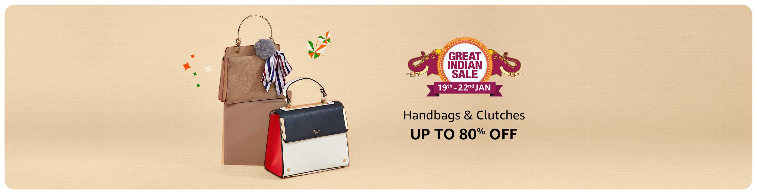 Handbags & Clutches | Upto 70% Off On Top Brands + Extra 10% SBI Credit Card Discount
