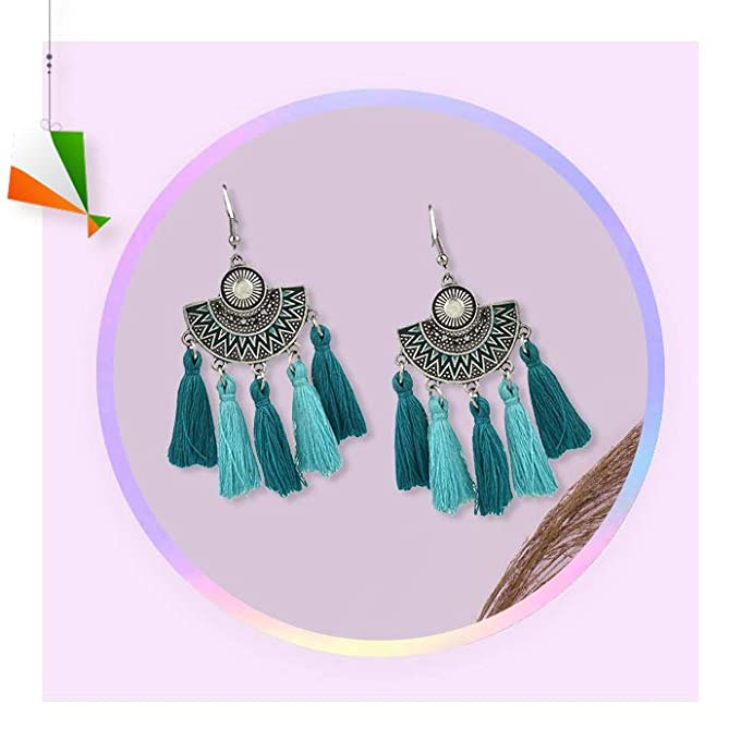 Long hanging earrings