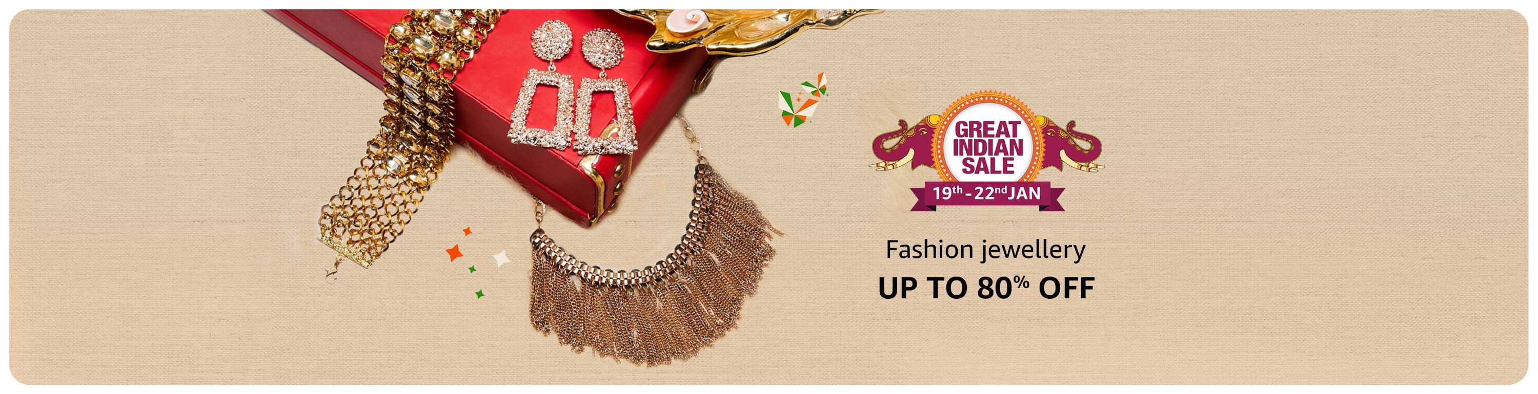 Upto 70% Off On Fashion Jewellery From Top Brands