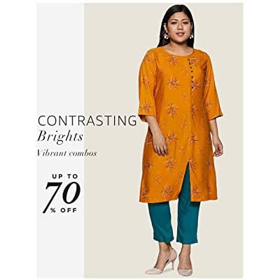 Shop contrasting Kurtas & ethnic bottoms to pair up