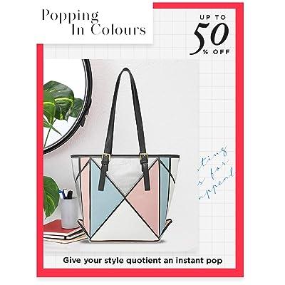 Shop colour-blocked bags