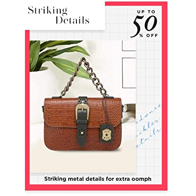 Shop bags with metal accents