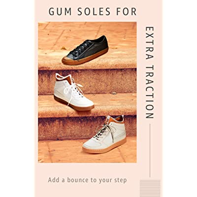 Shop gum-soled footwear
