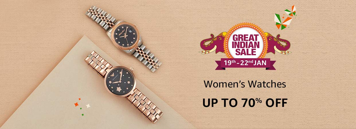 Upto 70% Off on Women Watches + 10% Instant Discount SBI Credit Cards