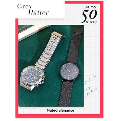 Shop grey & gunmetal timepieces