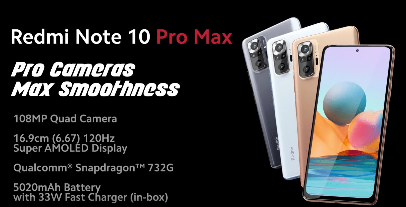 Amazon.in Redmi Note 10 Pro Max Electronics