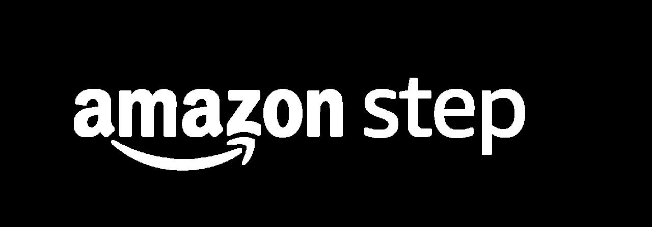 Amazon Step logo white