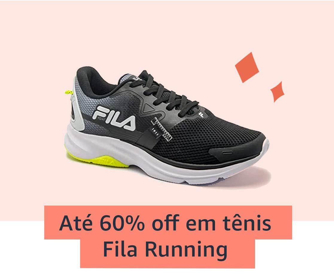Até 60% off em tênis Fila Running