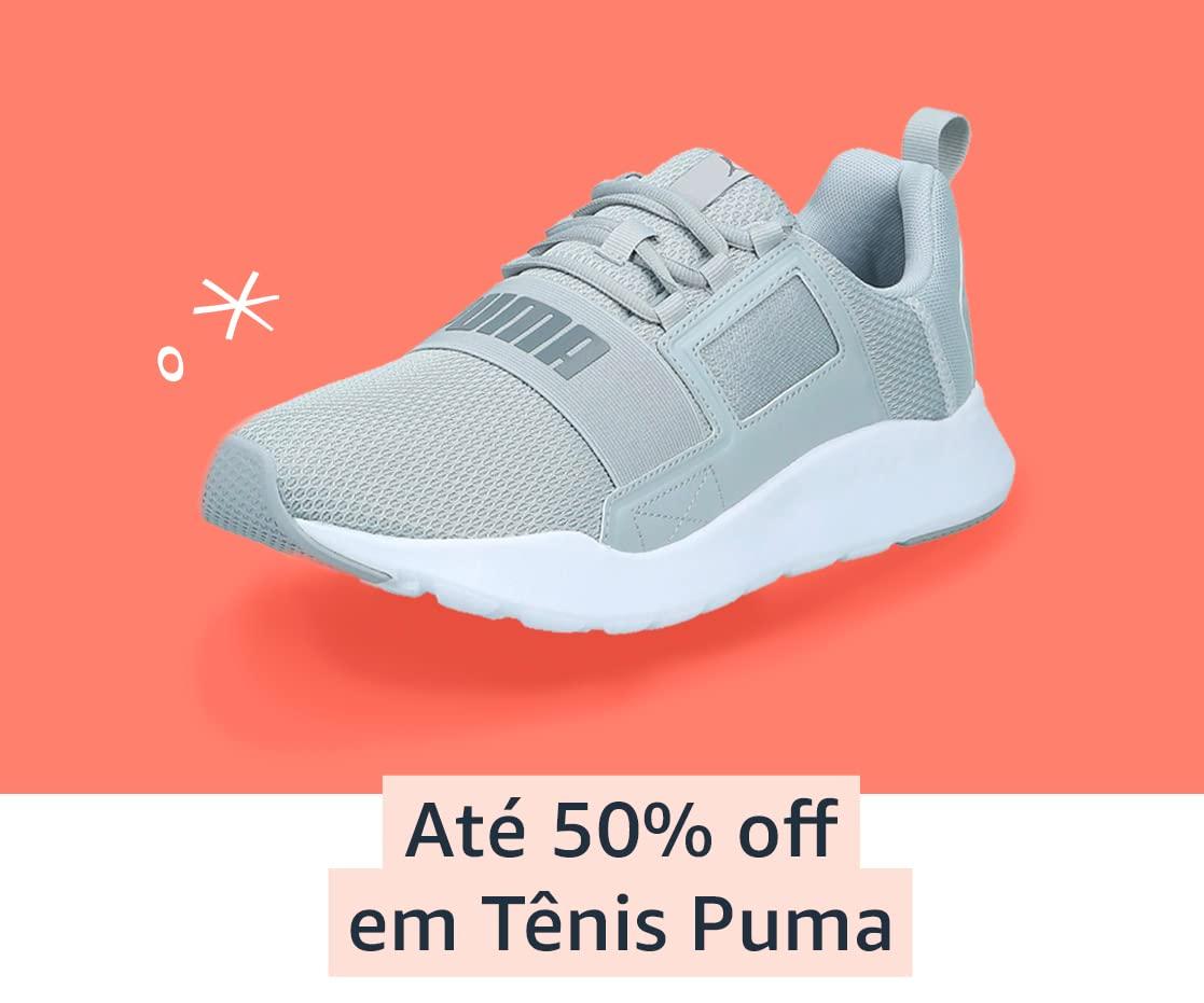 Até 50% off em Tênis Puma
