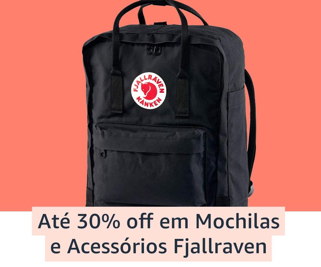 Até 30% off em Mochilas e Acessórios Fjallraven
