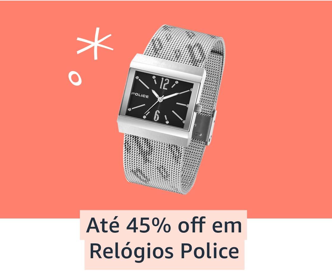 Até 45% off em Relógios Police