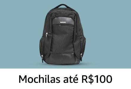 Mochilas até R$ 100
