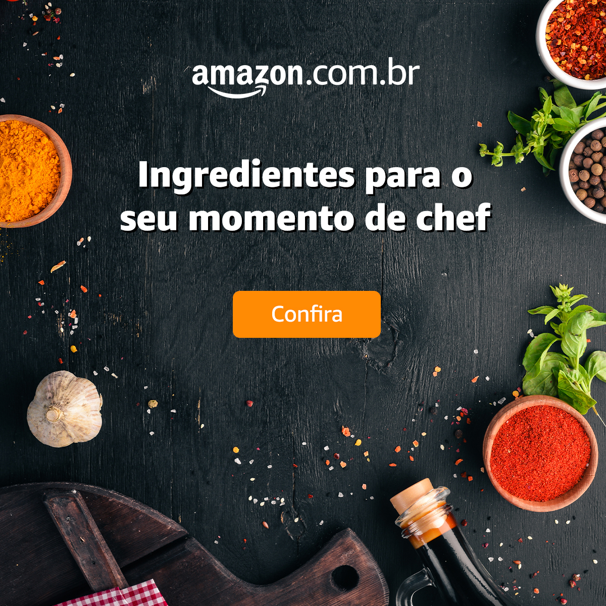 Ingredientes para o seu momento Chef