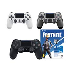 Controle Dualshock 4 Jet + Voucher Fortnite - PlayStation 4 - Preto