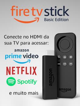 Fire TV Stick - Conecte no HDMI da sua TV para acessar: Amazon Prime Video, Netflix, Spotify e muito mais
