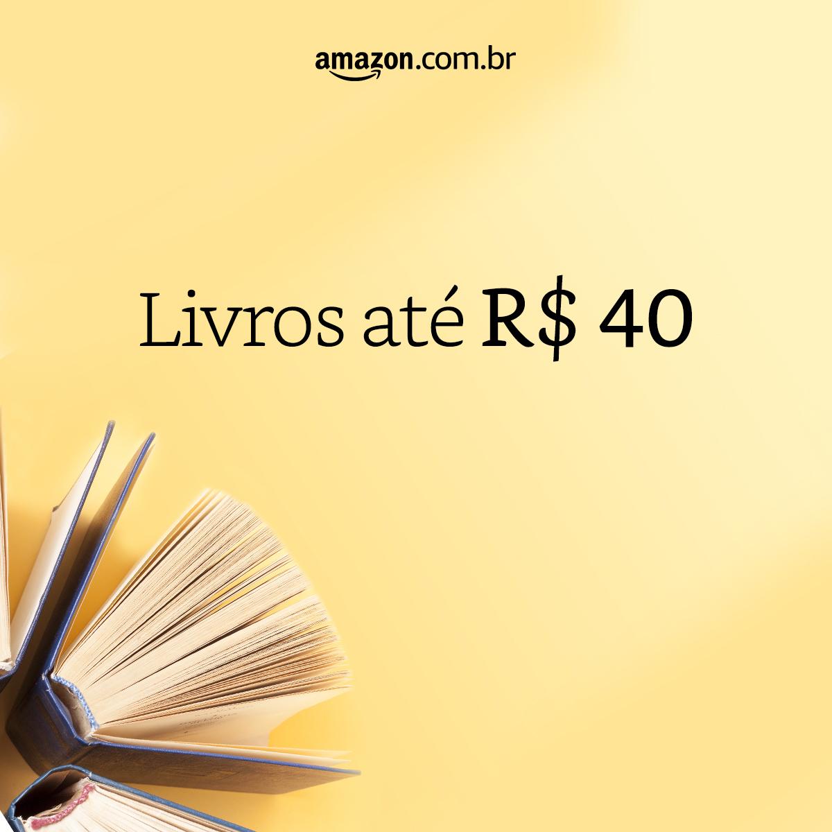 Livros até R$ 40