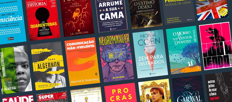 Alguns dos títulos disponíveis no Kindle Unlimited