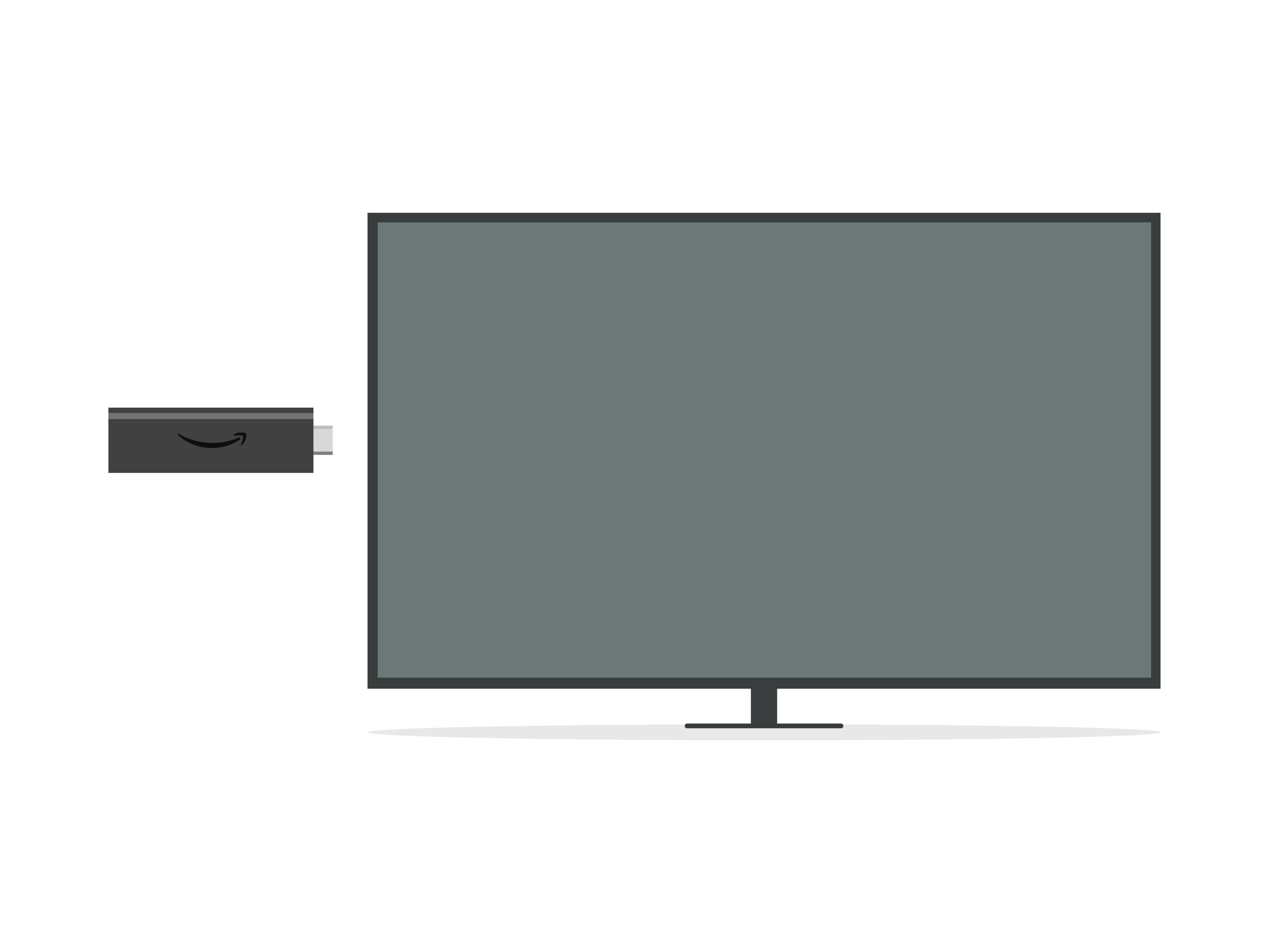 Insira o Fire TV Stick em sua TV HD (você também pode usar o cabo extensor de HDMI).