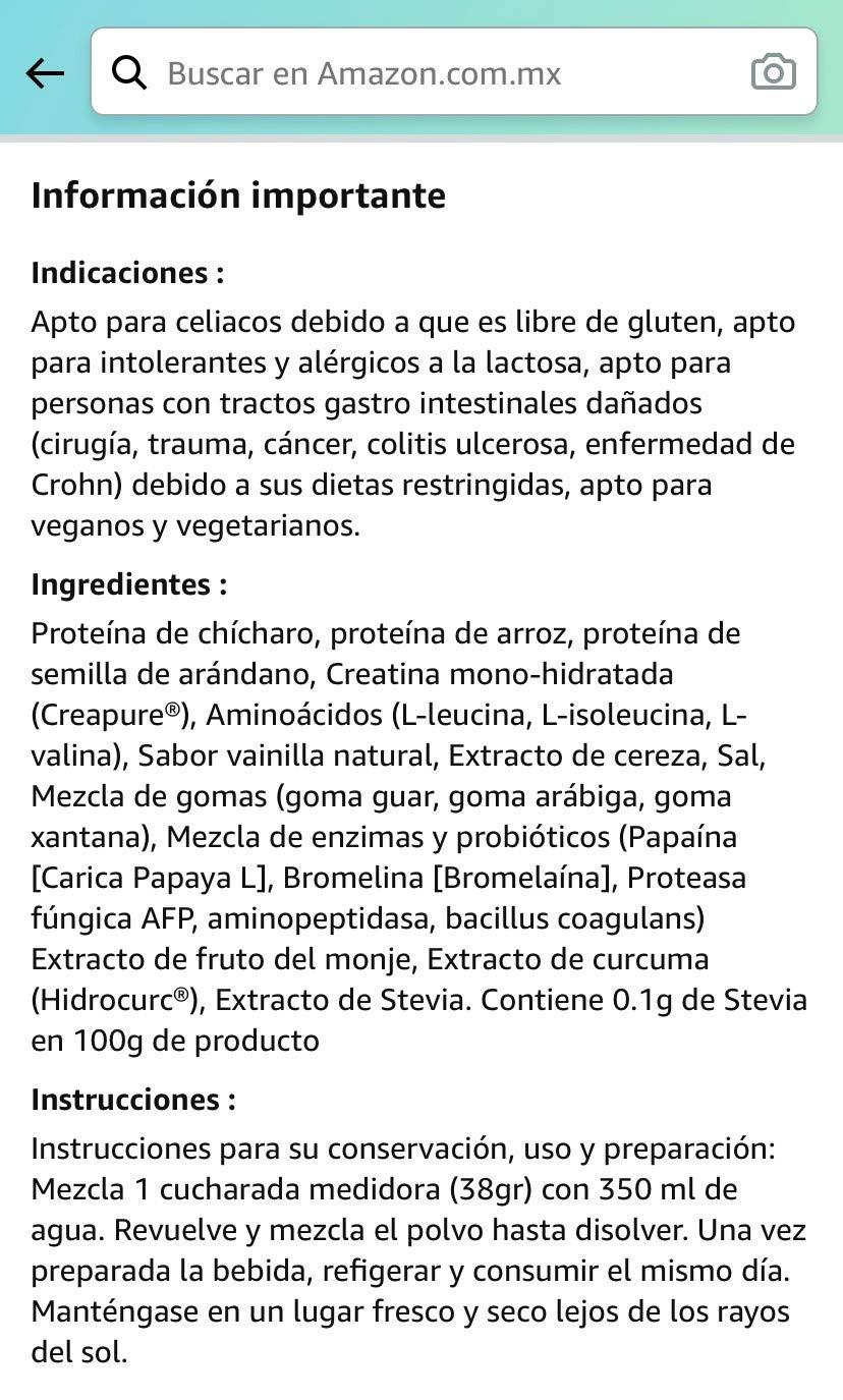 Un ejemplo de descripción y funciones y detalles del producto
