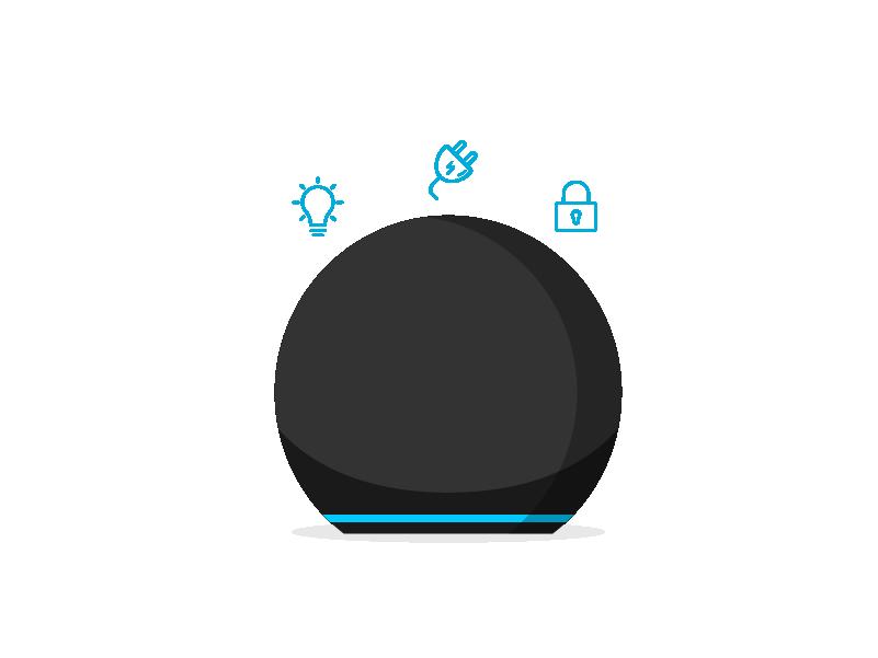 """Para una configuración fácil con dispositivos de Casa Inteligente compatibles, di """"Alexa, descubre mis dispositivos."""""""