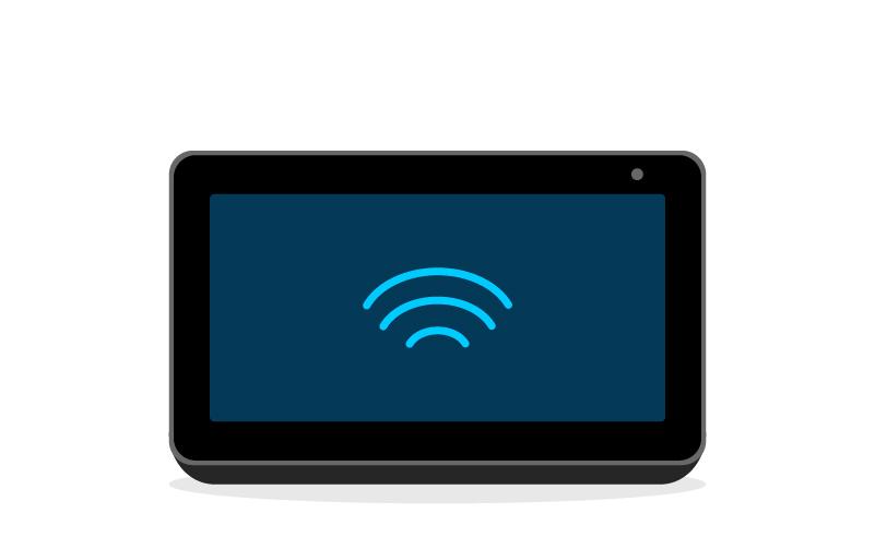 2. Conectate a internet usando el Echo Show 5.