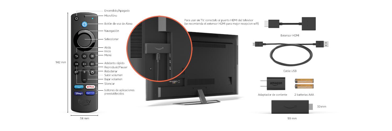 Detalles técnicos del Fire TV Stick 4K