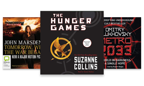 Dystopian series including The Hunger Games, Metro and Tomorrow When The War Began